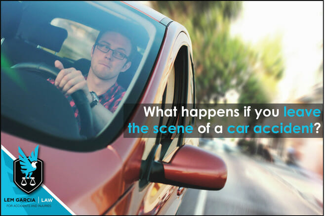 What happens if you leave the scene of a car accident? | Lem Garcia Law