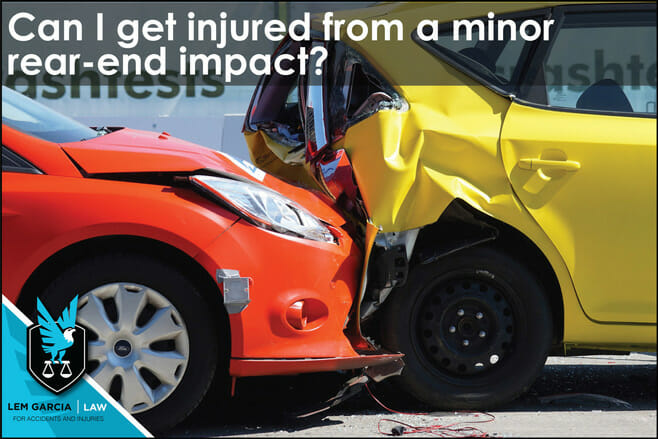 can-i-get-injured-from-minor-rear-end-impact