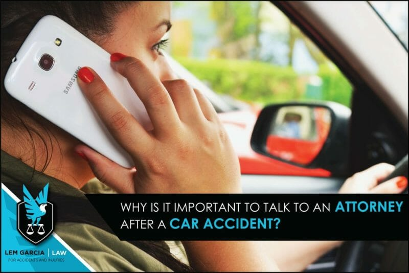 Why is it important to talk to an attorney after a car accident